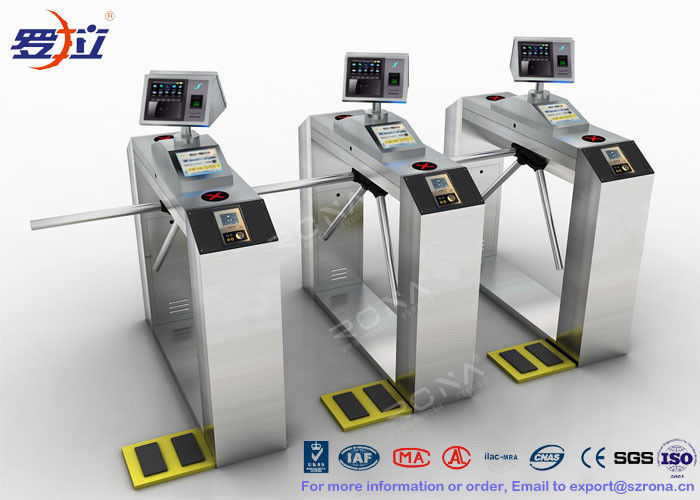 Access Control Tripod Turnstile Security Systems Gate Electronic With ESD System