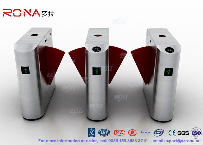 Acrylic Flap Waist Height Turnstile Security Systems Optical Sensor Rs485 Communications Port