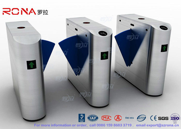 Indoor / Outdoor Flap Barrier Turnstile Waist Height Turnstile Sliding High Speed