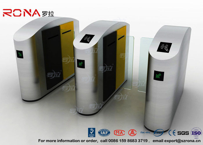 IC / ID Identification Sliding Barrier Turnstiles Stainless Steel DC Servo Motor