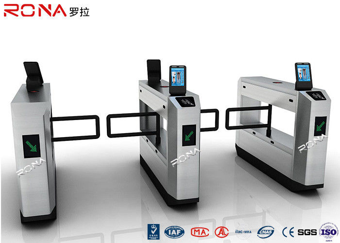 Stainless Steel Swing Facial Recognition Turnstile 900mm Arm Length CE Approved