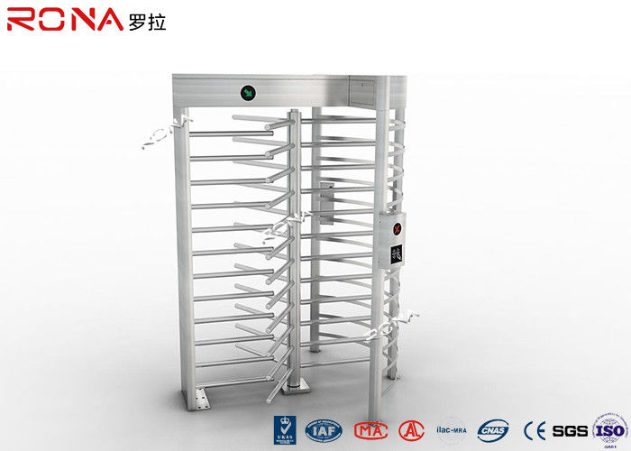 Single Passage Three Armed Pedestrian Turnstile Gate Full Height 304 Stainless Steel