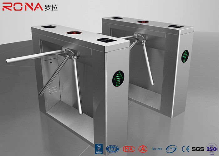 Security Tripod Turnstile Gate Access Control AC220V With RFID Card Reader
