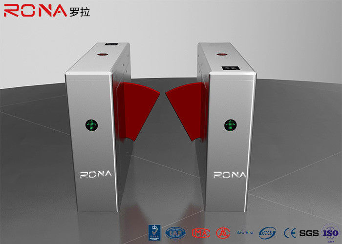 Pedestrian Control Electronic Flap Barrier Gate Acrylic Counter Turnstiles